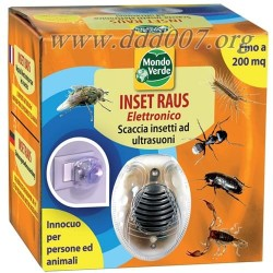 INSET RAUS е електронен уред за защита от летящи и пълзящи насекоми.