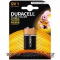 Девет волтова алкална батерия Duracell Alkaline 9V