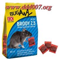 Brody 2.5 – отровна примамка за мишки и плъхове