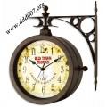 Метален стенен часовник със странична стойка и уникален старинен дизайн TFA 60.3011
