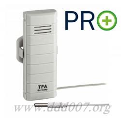 Безжичен датчик за измерване на температура с водоустойчив кабелен сензор PRO+