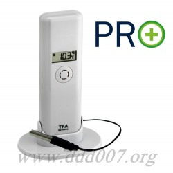 Безжичен датчик за измерване на температура и влажност с водоустойчив кабелен сензор PRO+