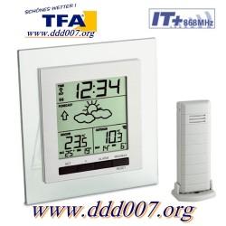 """Метеорологична станция """"SQUARE""""  TFA 35.1115.IT с външен датчик"""
