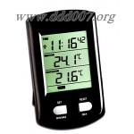 Безжична метеорологична станция за измерване на вътрешна и външна температура.